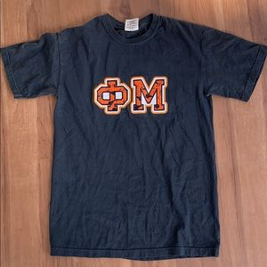 Phi Mu Halloween Embroidered Letters Tee - S
